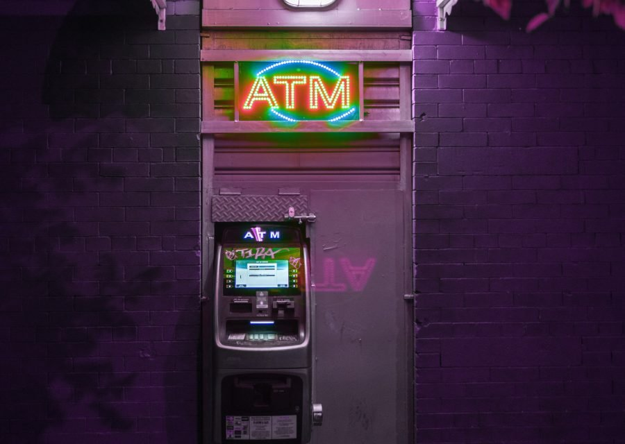 ATM lit up - targeted at night for ATM Jackpotting